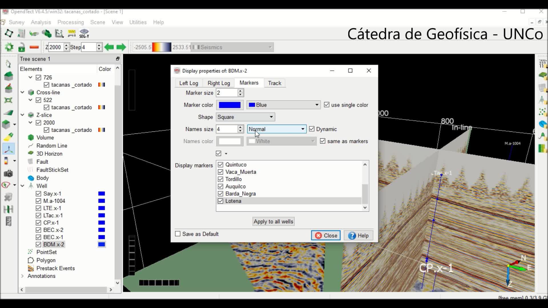 Interpretación sísmica_tutorial 2 Opend Tect_ carga de pases