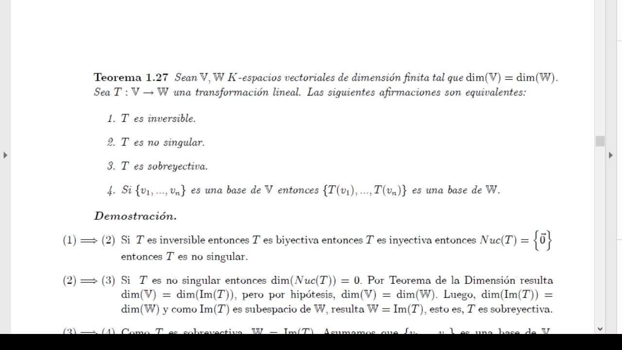 Licenciatura en Matemática. Algebra Lineal II. Clase 6. V1 (6-4-21)