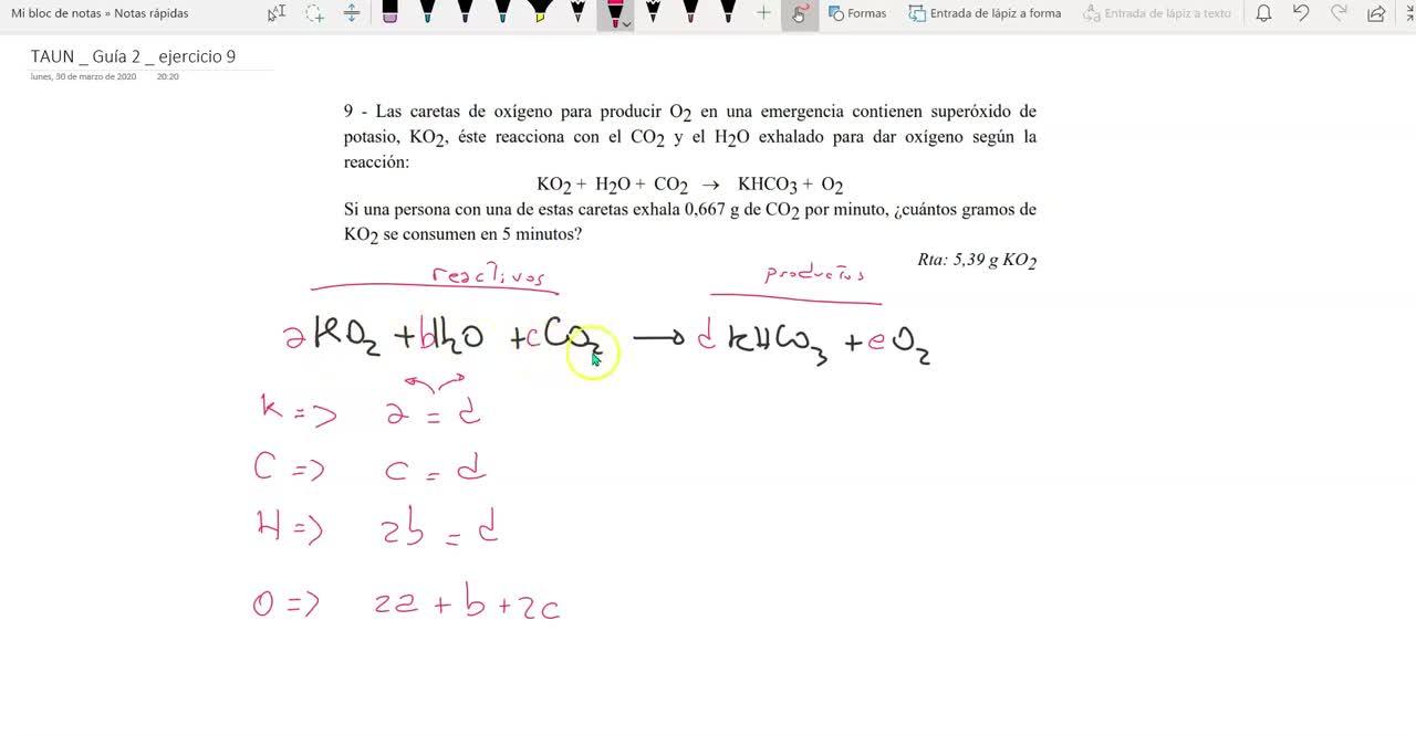 TAUN_2021_Guía 3_ejercicio 4_ajuste de la ecuaciónn qca  por mtodo algebráico