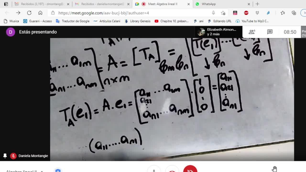Licenciatura en Matemática. Algebra Lineal II. Clase 7 V1 (8-4-21)