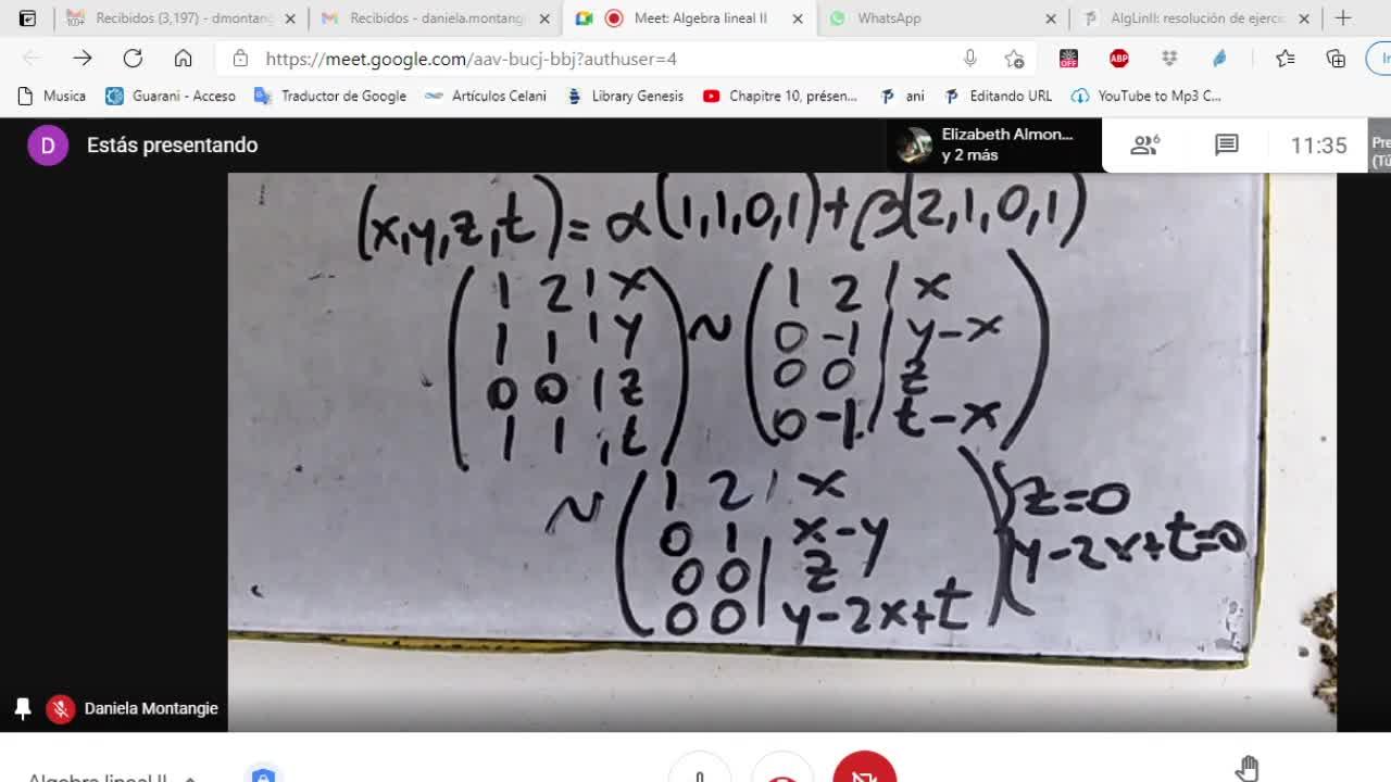 Licenciatura en Matemática. Algebra Lineal II. Clase 7 V3 Práctica (8-4-21)