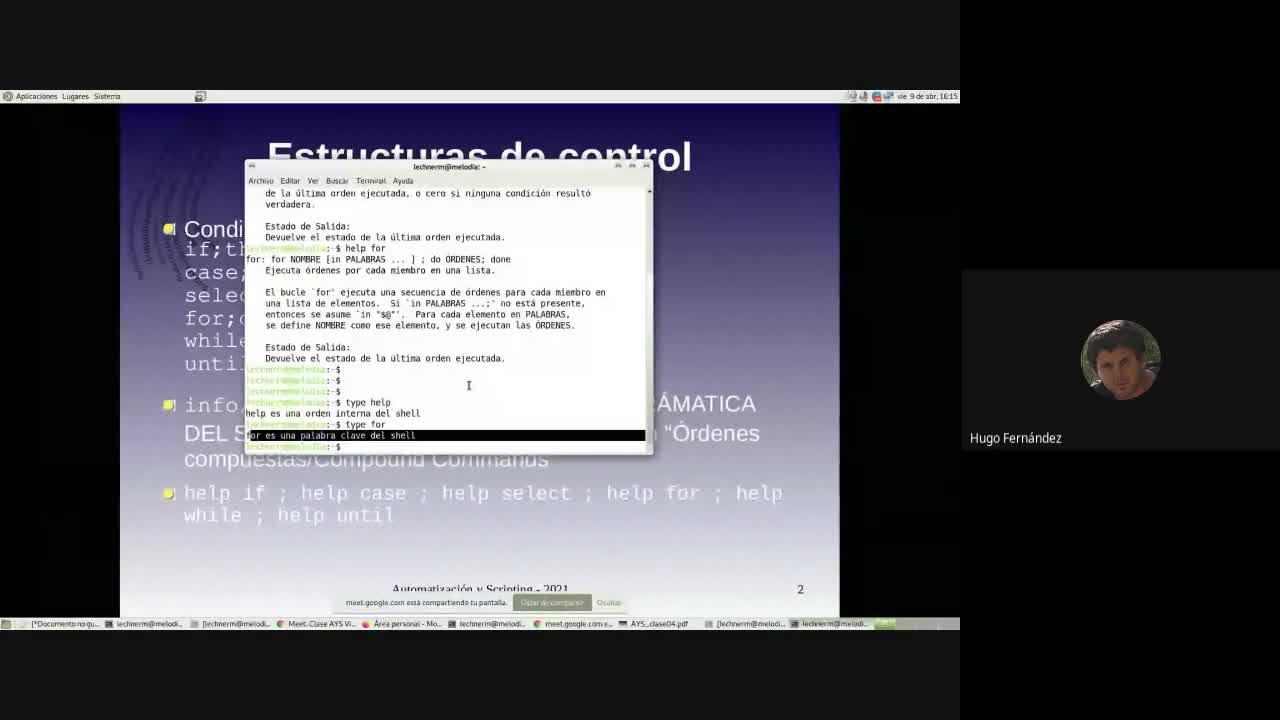 UNCOMA TUASSL - AYS Clase 9/4/21 - Estructuras de control y funciones