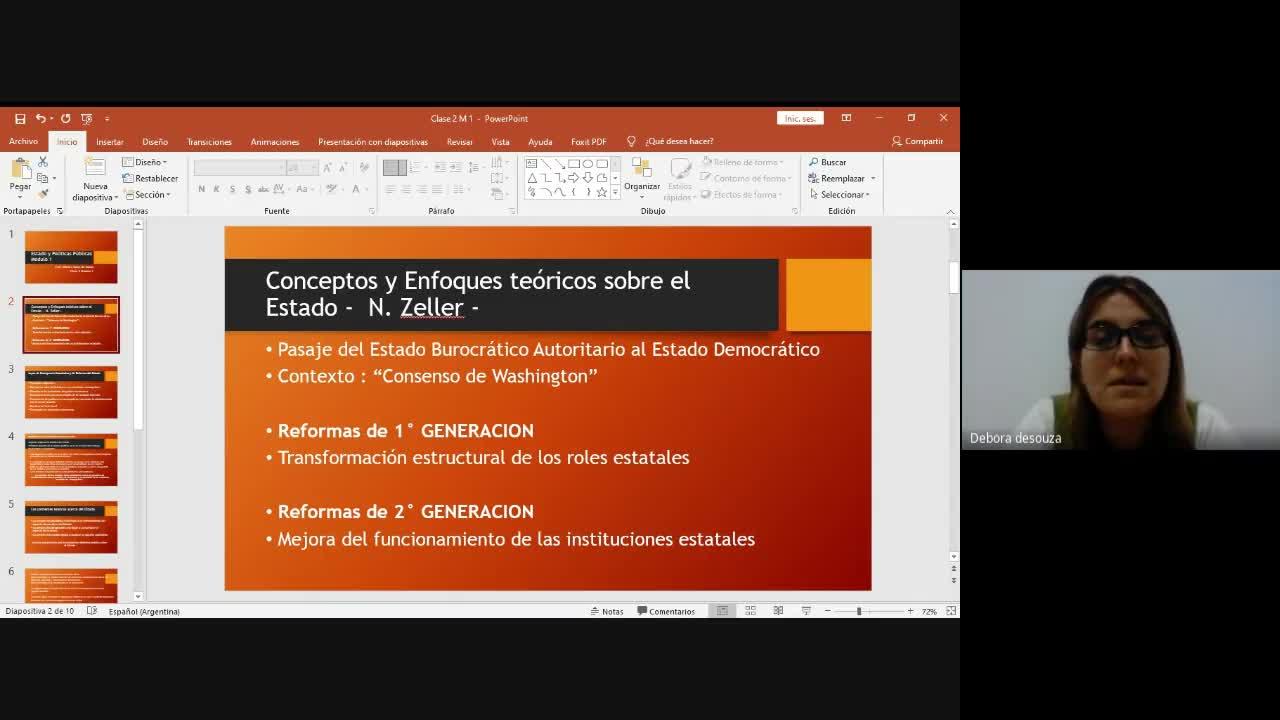 MODULO 1 - Estado y políticas públicas: Comisiones 1 y 2 - CLASE 2