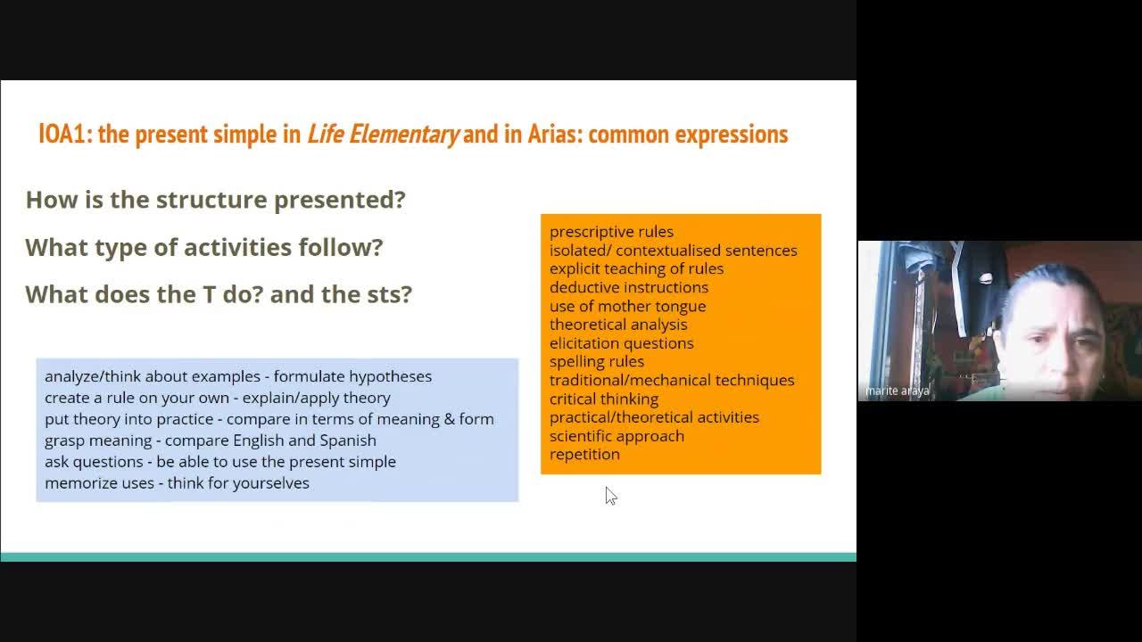 English Grammar III - Session 5 - 14th April
