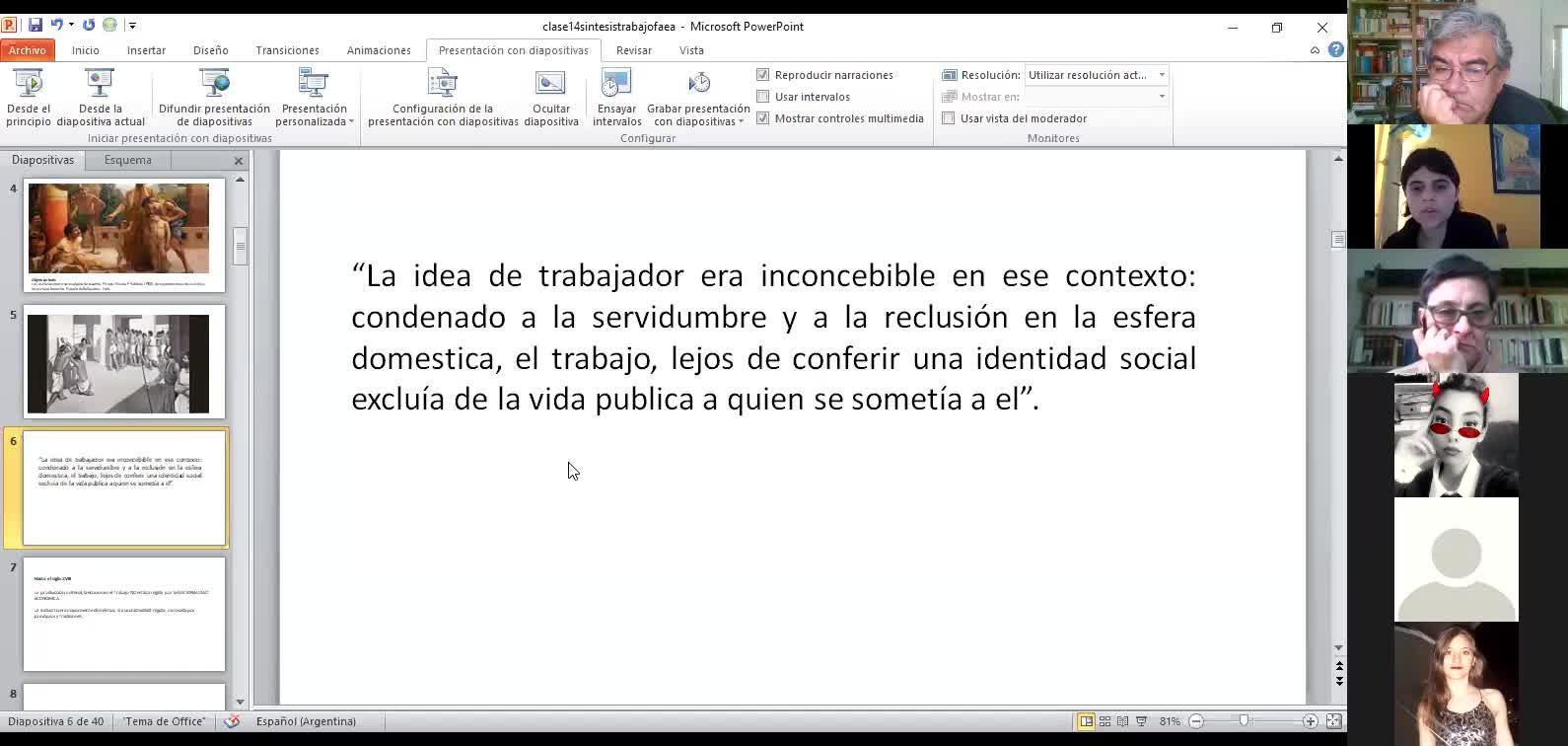 Clase toerica Sociología Blanco 14/4
