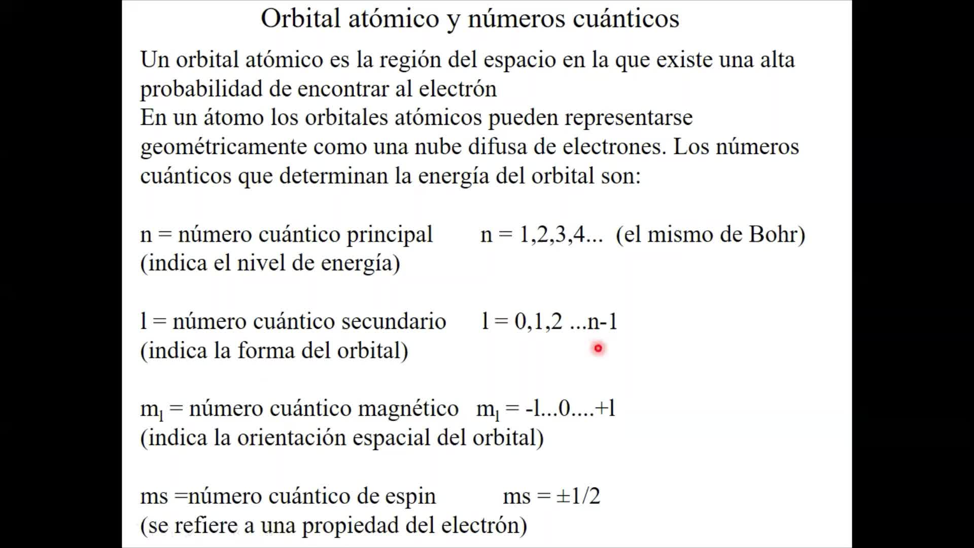 Unidad 2 forma y cantidad de Orbitales atómicos - modelo de la mecánica cuántica (1)
