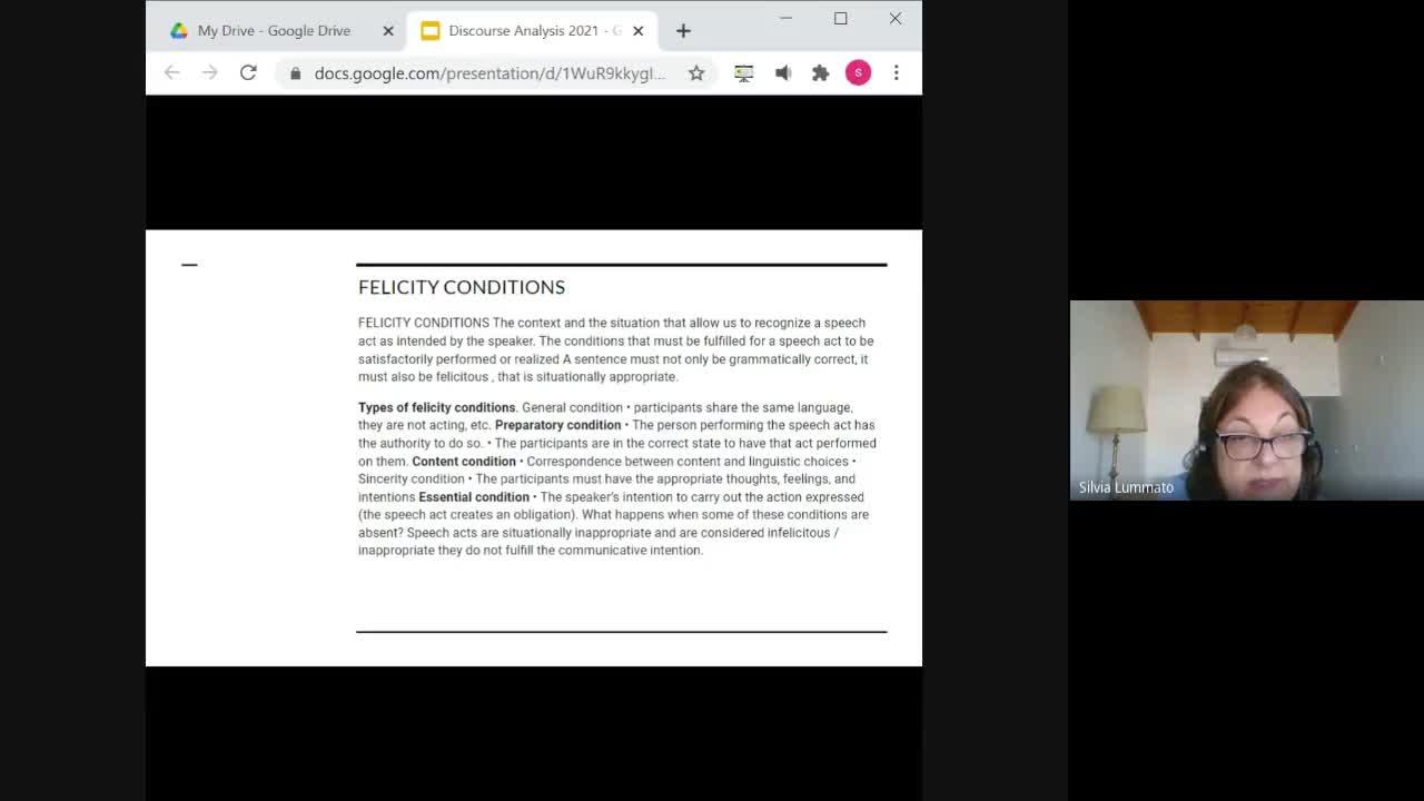 Discourse analysis April 19th, 2021 lesson
