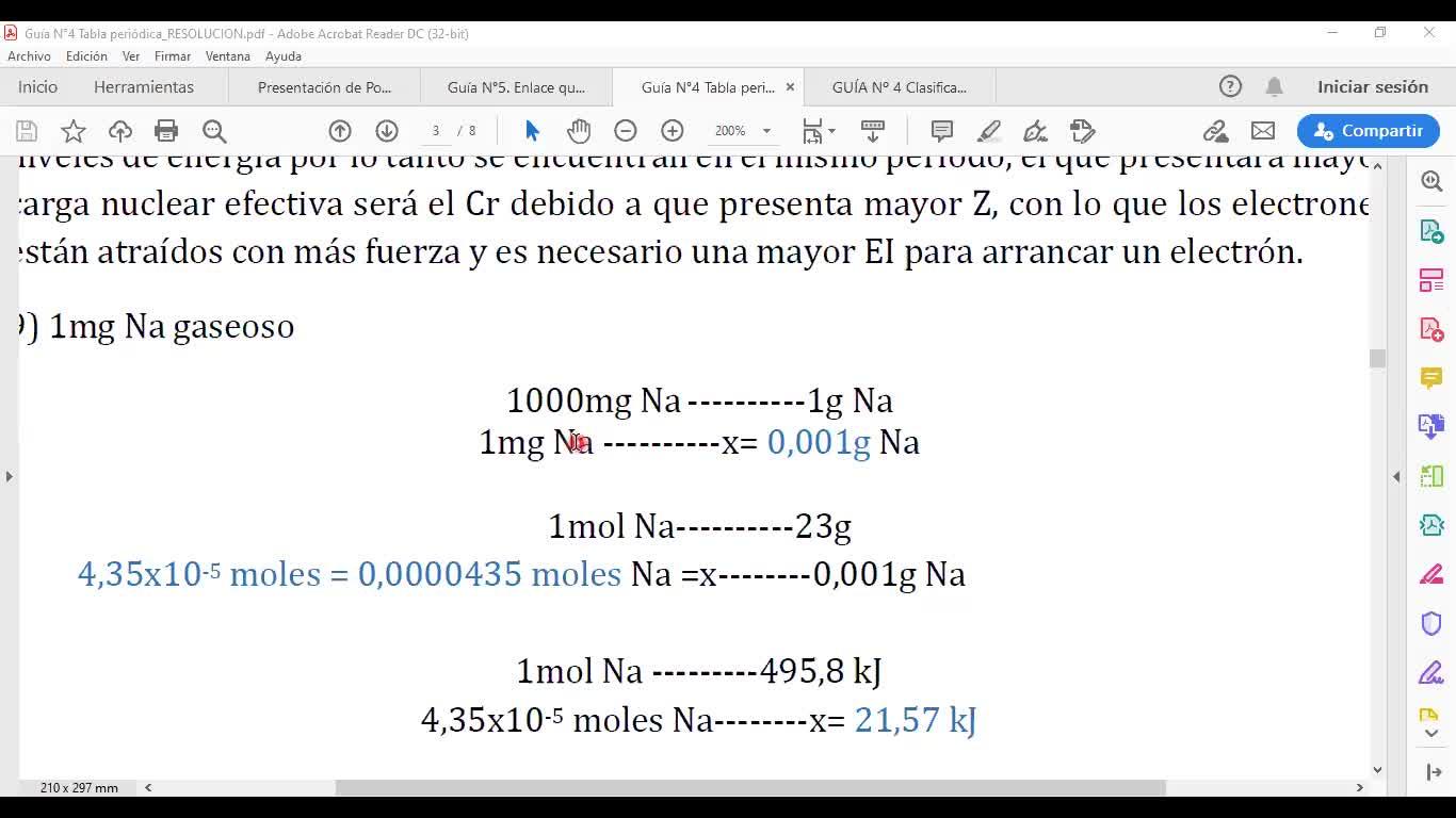 Ingeniería Agronómica- Química general e inorgánic- Clase practica estructura atómica