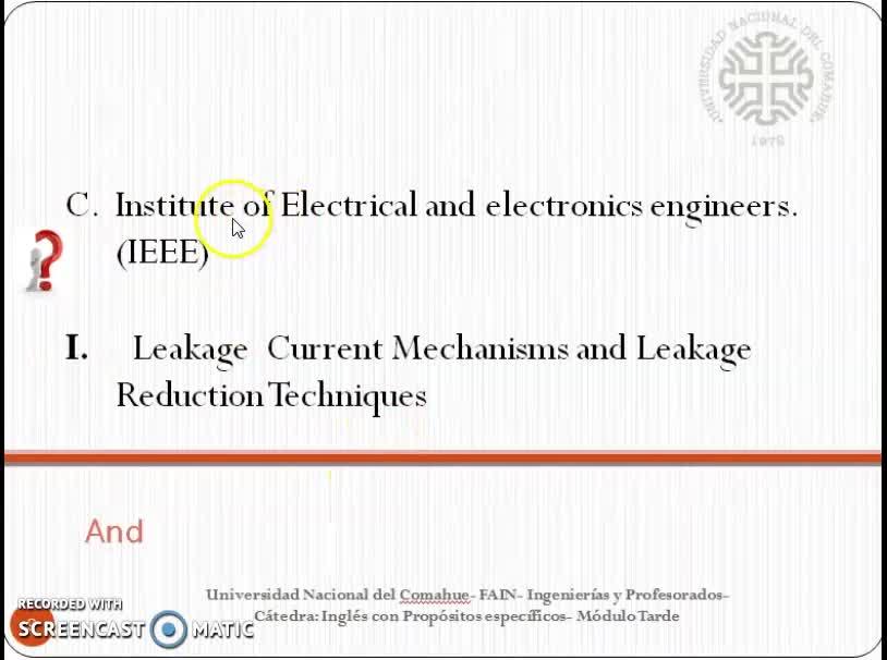 Inglés para Ingenierías y Profesorados de la Fac. de Ingeniería- Módulo Tarde - 30 de abril