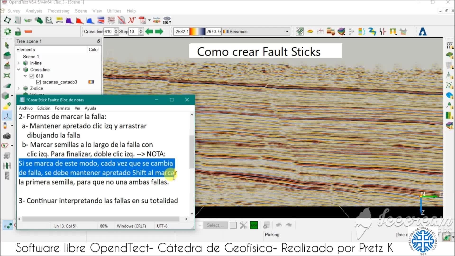 OpendTect - fallas