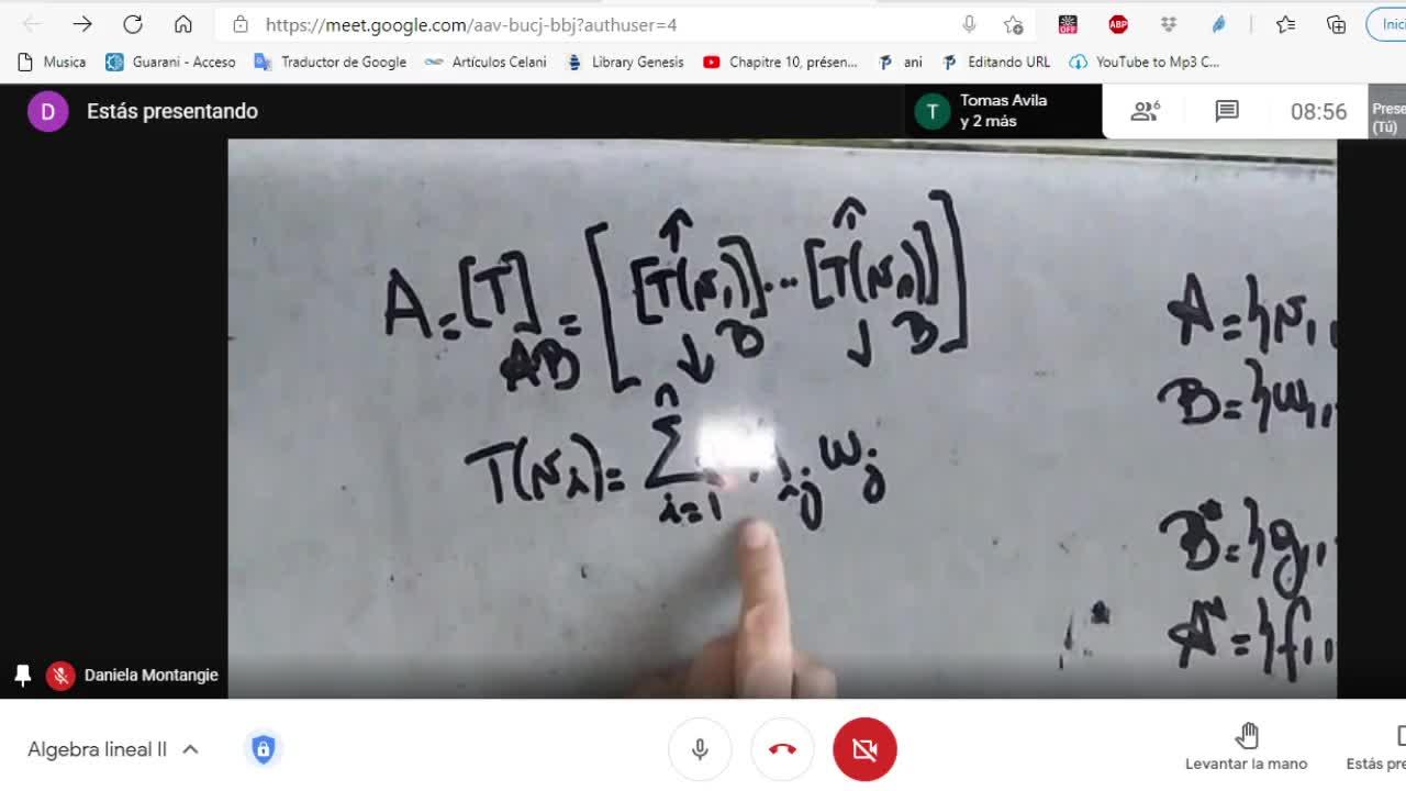 Licenciatura en Matemática. Algebra Lineal II. Clase 11. Espacios duales (4-5-21)