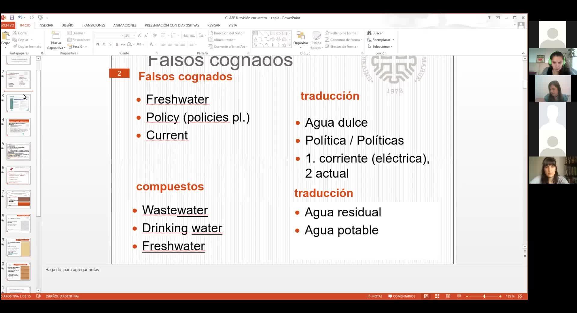 Inglés- Lic. En Saneamiento Ambiental y Tec. En Seguridad e Higiene- 18/05/21