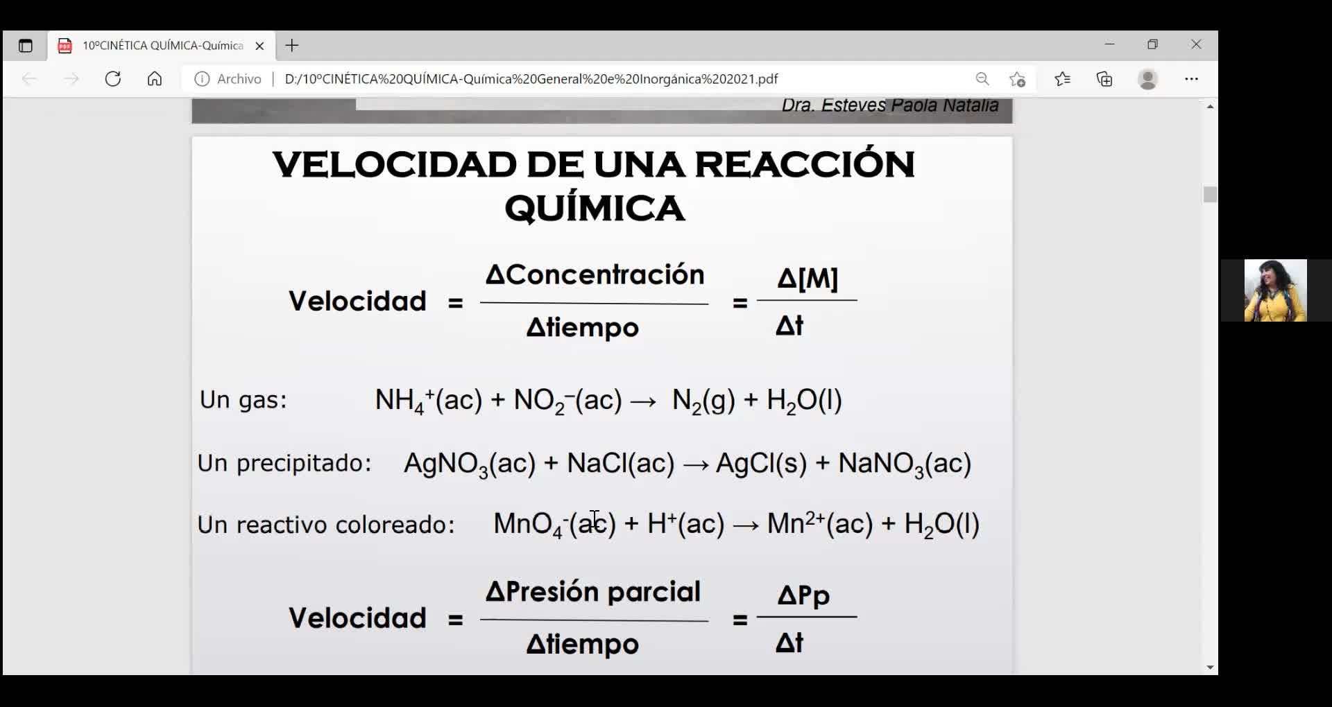 Ingeniería Agronómica- Química General e Inorgánica- Teoría Cinética química