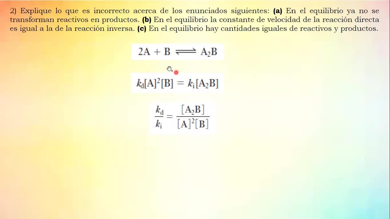 Ingeniería Agronómica- Química General e Inorgánica- Práctica equilibrio químico