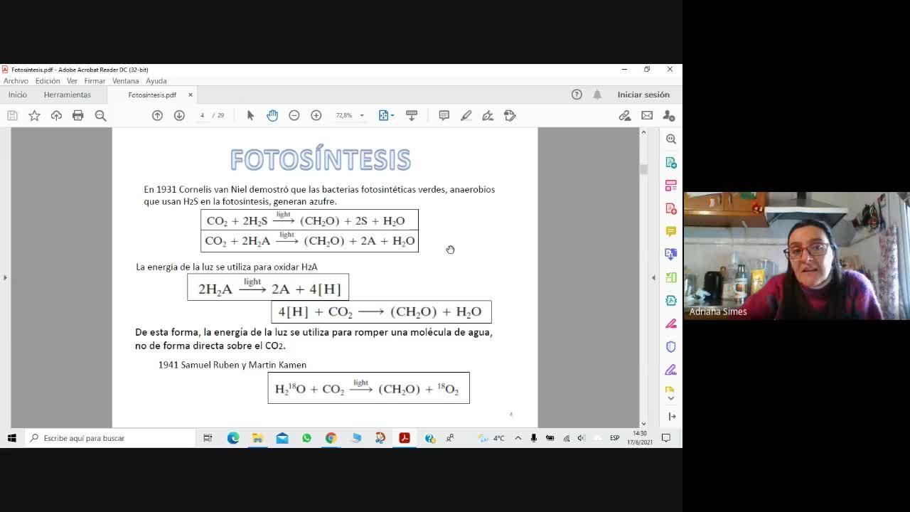 Bioq Alim 17-6-2021 Fotosíntesis Parte1