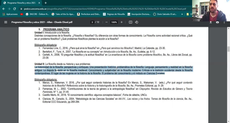 Presentación de la materia - FILOSOFÍA Y ÉTICA 2021 - SEDE ALLEN - CHOELE CHOEL