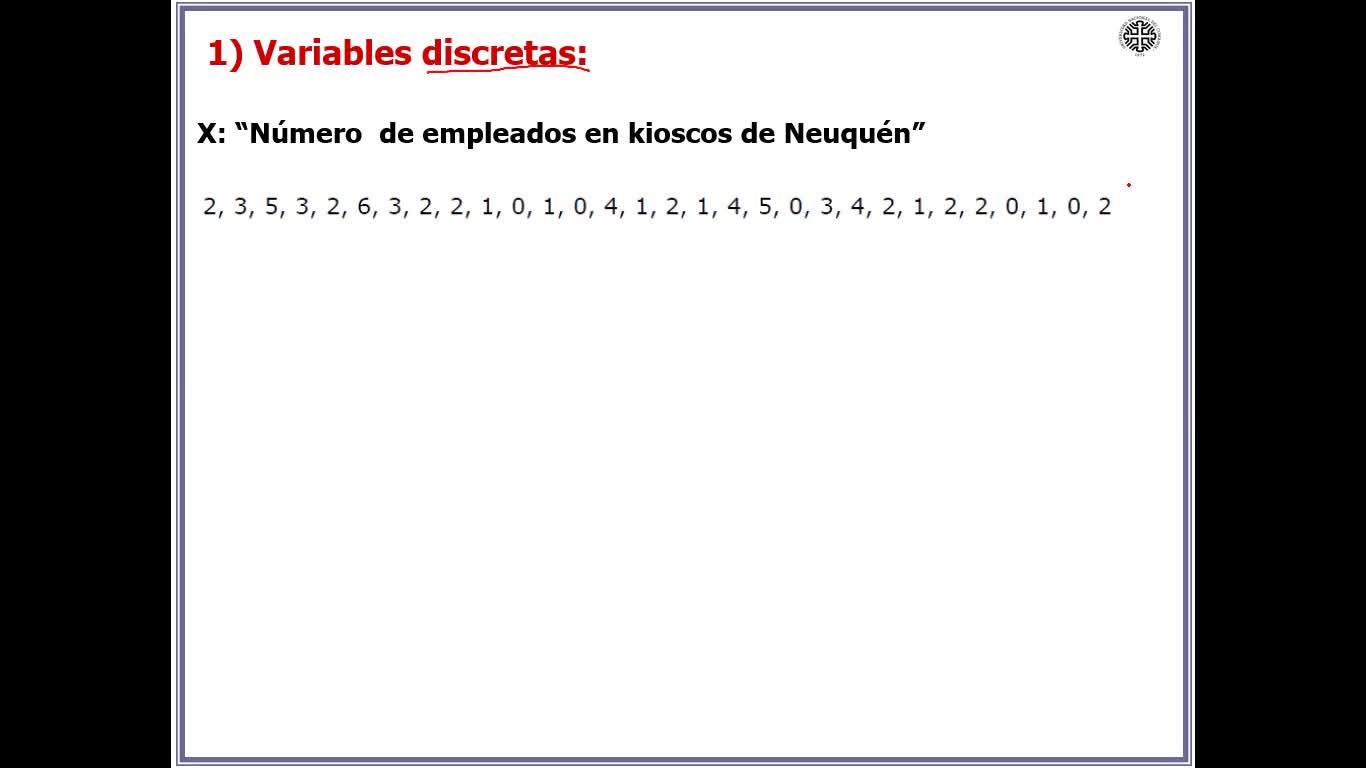 Clase N°2. Tablas de Frecuencia. Medidas de Posición y Dispersión (Primera Parte)