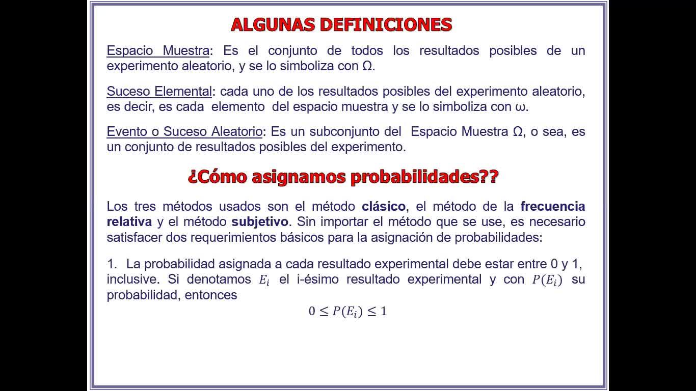 Clase N°3. Teoría Probabilidad