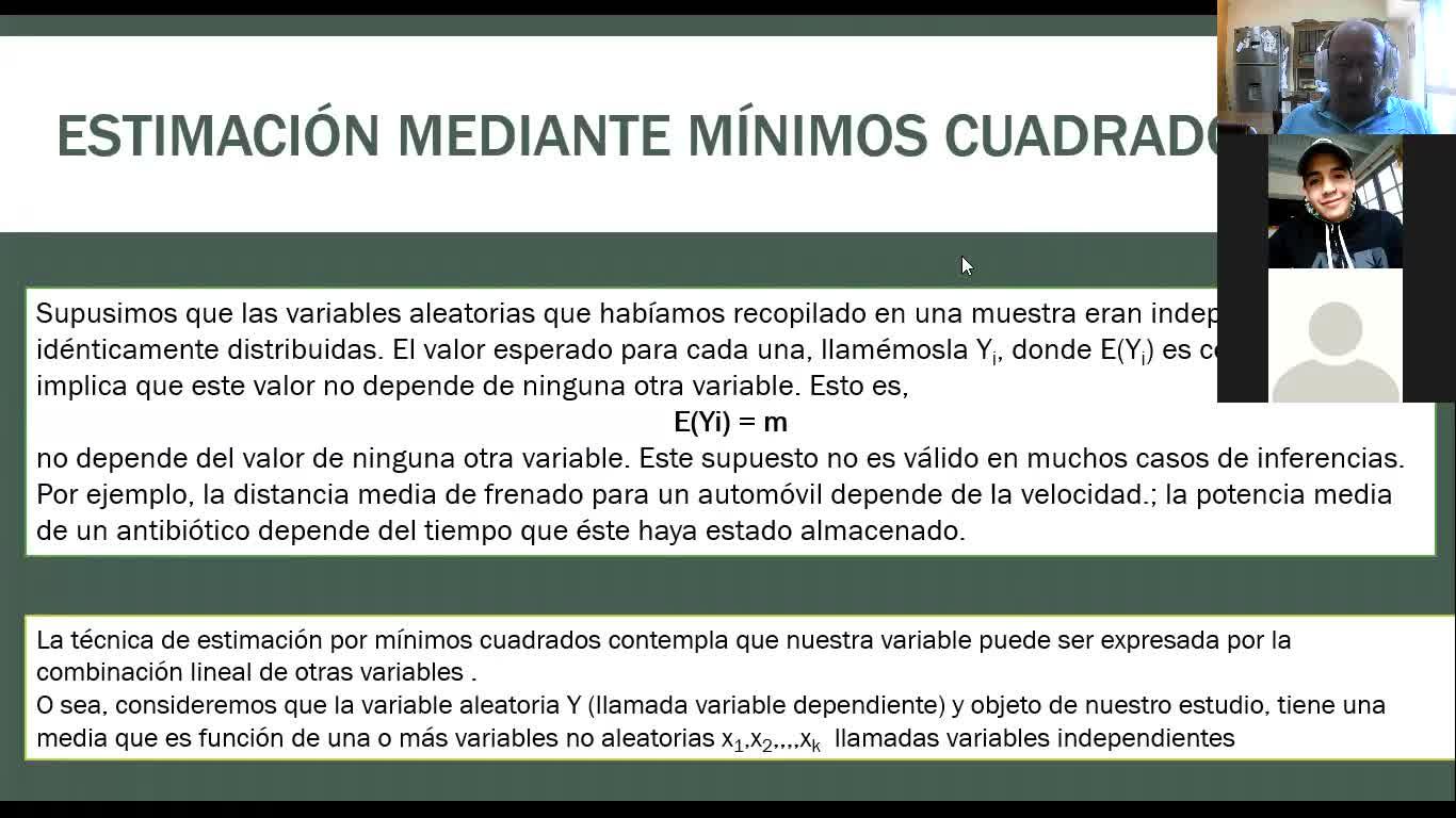 ESTIMACION POR MINIMOS CUADRADOS CLASE 1